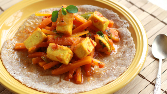 Carrot Jalapeño and Paneer Soft Tacos