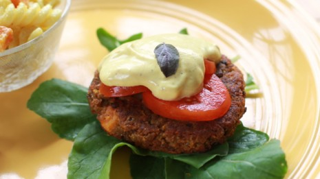 Grilled Lentil Veggie Burger Patties