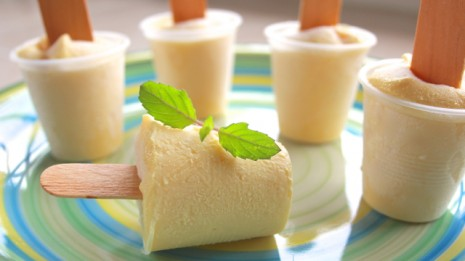 Fat Free Creamy Mango Buttermilk Popsicles