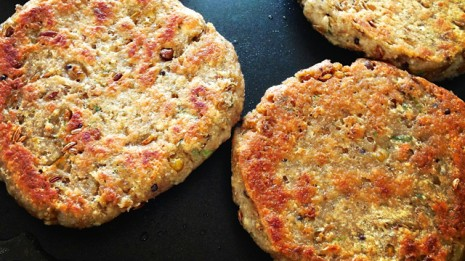 Lentils and Soaked Corn Burger Patties